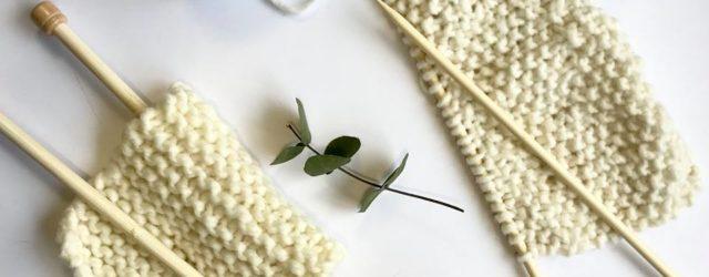 Zkušební vzorek na pletení