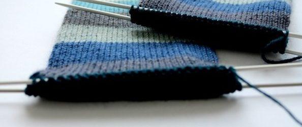 Nedokončené pletené ponožky